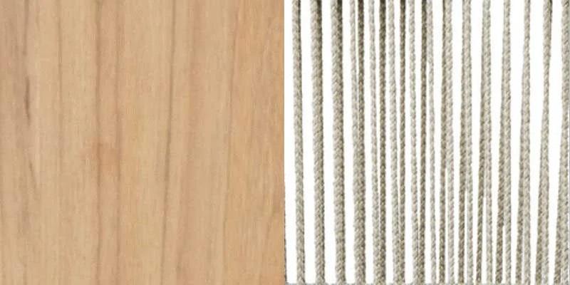 Brushed Teak + Rope Light Grey