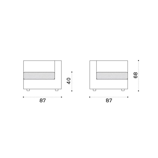 ETHIMO Cube Lounge Eck-Modul