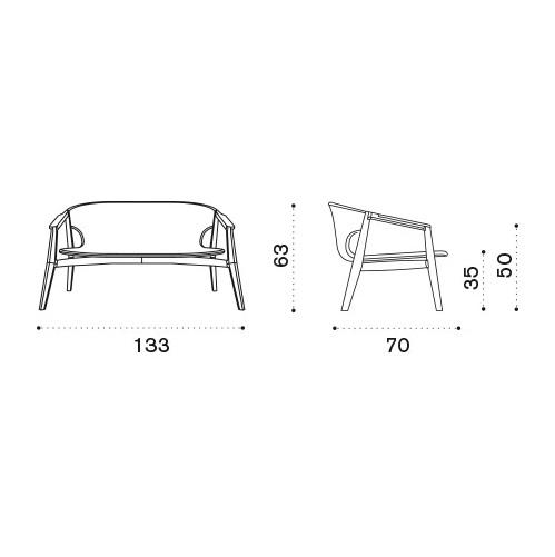 ETHIMO Knit 2-Sitzer Loungesofa