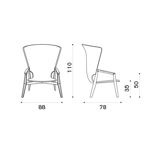 ETHIMO Knit Armlehnstuhl mit hoher Rückenlehne